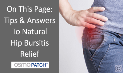 Hip Bursitis Treatment - OSMO Patch - UK